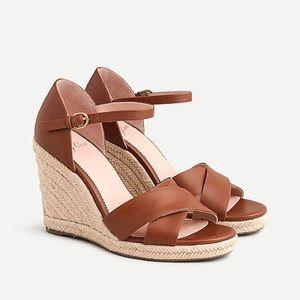 ✨NIB✨ J CREW //Jute wedge warm sepia sandals